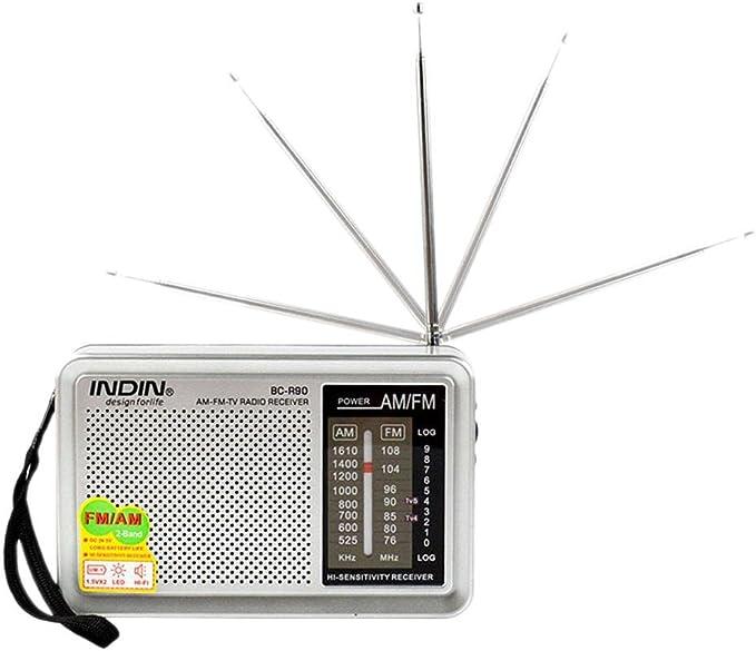 ALIAN – Radio Am/FM portátil – BC de R90 batteriebetriebenes ...