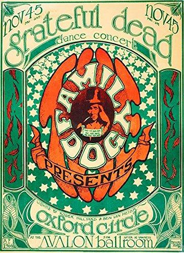 Dead Vintage Poster (Grateful Dead - Avalon Ballroom - 1966 - Concert Poster)