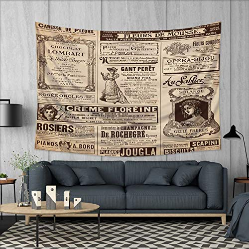Anhuthree Paris Customed Widened Tapestry Vintage Old Histor