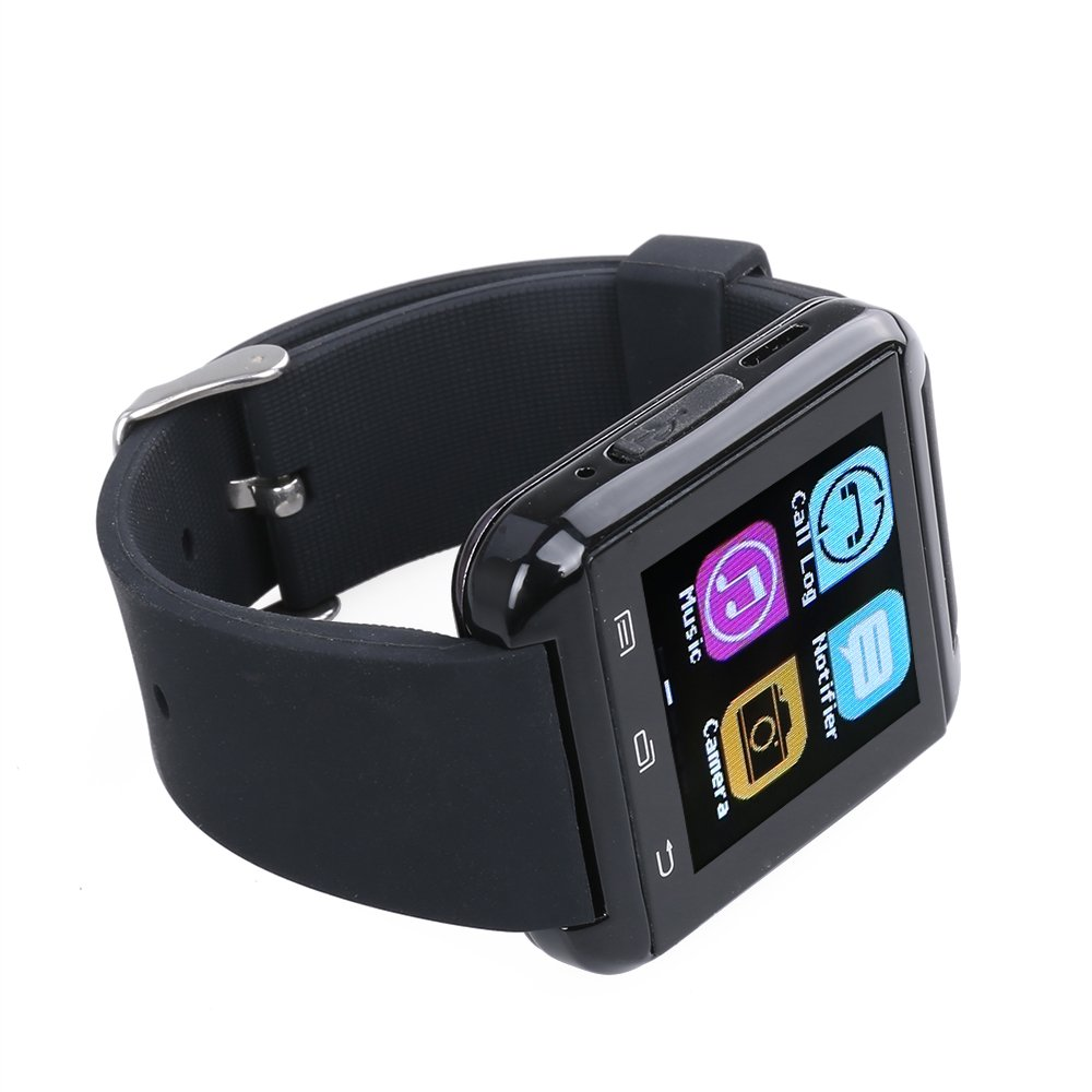 Flylinktech - Smartwatch U8 Plus Bluetooth 4.0 Podómetro Reloj inteligente para iOS iPhone 6 Plus/6/5S/5/4S/4 Android Samsung S5/S4/S3/S2/Note 3/Note 2/Sony ...