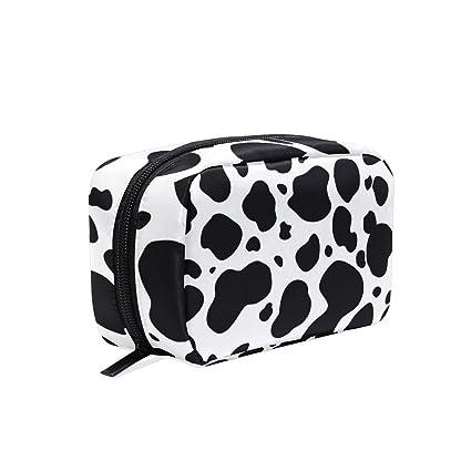 DragonSwordlinsu COOSUN - Estuche organizador de viaje para mujer, diseño de vaca, color blanco