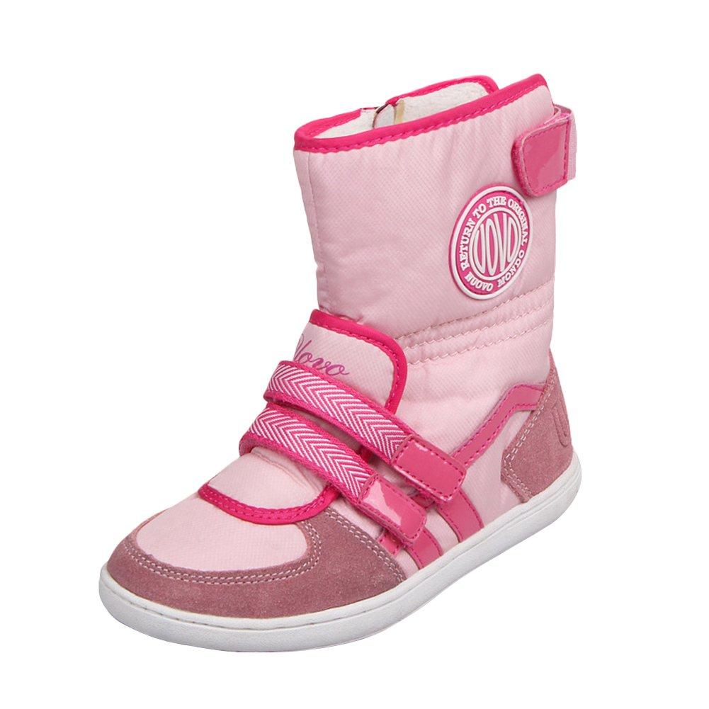 e9ea3c4d6e4c7 chengniu Filles Bottes de Neige pour Enfant Chaud Hiver Chaussures Fille  Bébé Fourrure Doublé Antidérapant Sole souple Bottes d hiver (EU-35
