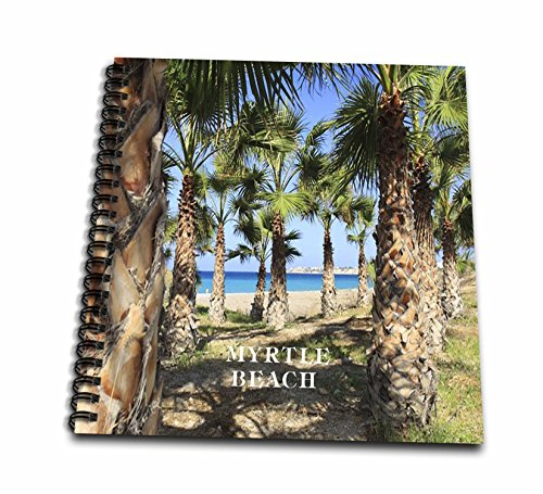3dRose db_80856_2 Palms Line Myrtle Beach South Carolina - Memory Book, 12 by 12