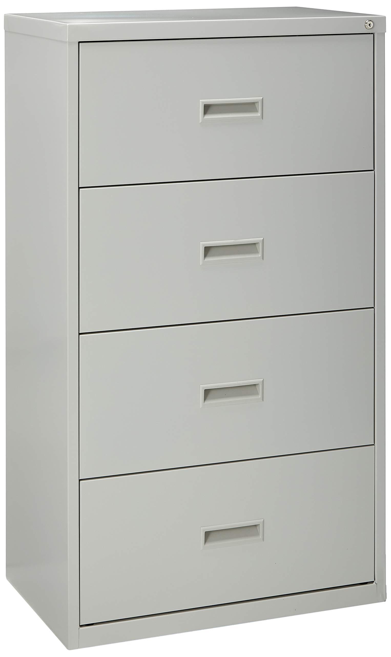 Lorell 4-Drawer Lateral File, 30 by 18-5/8 by 52-1/2-Inch Light Gray by Lorell