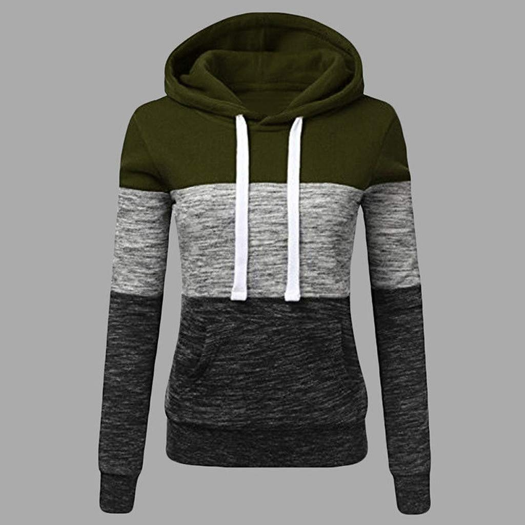 Ladies Casual Hoodies Patchwork Hooded Blouse Pullove Fashion Clothes Sale Gifts for Women Ladies/' Casual Hoodies Patchwork Hooded Blouse Pullove Fashion Clothes Sale Gifts for Women Lurryly Womens Sweatshirt