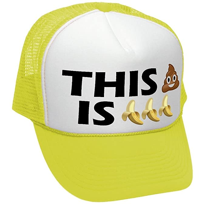 fc778a8c06703 Amazon.com  The Goozler This Shit is Bananas - Funny Parody Joke - Adult  Trucker Cap Hat