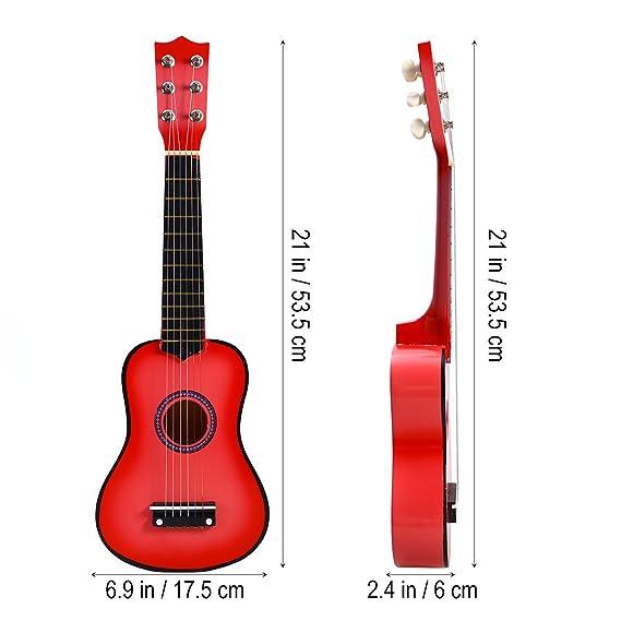 TOYMYTOY 21 pulgadas Guitarra acustica Pequeña guitarra de madera para niños infantil principiantes (Rosado): Amazon.es: Juguetes y juegos