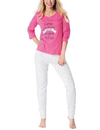 a71e2ec89b Rössli Rossli Sal-PY 1081 Women s Pyjama Set 3 4 Sleeved Top Long Pants