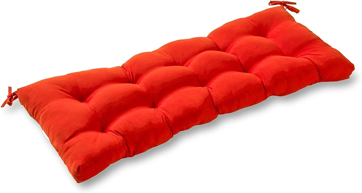 South Pine Porch AM5812-SALSA Solid Salsa Red 51-inch Outdoor Bench Cushion, 51x18