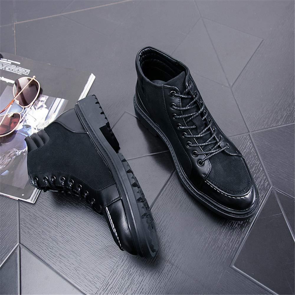 Dundun-Stiefel 2018 Neue Kommende Stiefel, Männer Casual versteckte versteckte versteckte Ferse High Top Fashion Stiefelette Schnüren Freizeitstiefel (Farbe   Schwarz, Größe   44 EU) 159ed0