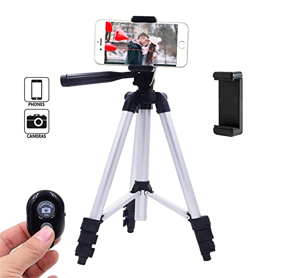 Wonderful Conzy Phone Tripod, Universal Adjustable Tripod Kit With Bluetooth Remote  Control And Smartphone Holder Mount