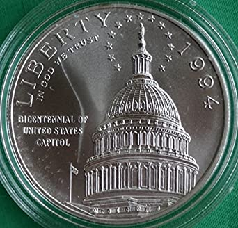 Box /& COA 1994 S US Capitol Bicentennial Silver Dollar PROOF US Mint Coin