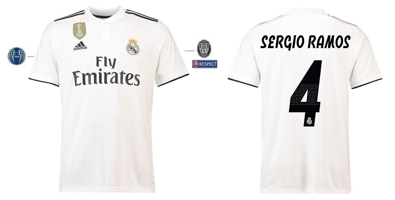 Real Madrid Trikot Kinder 2018-2019 Home UCL - Sergio Ramos 4