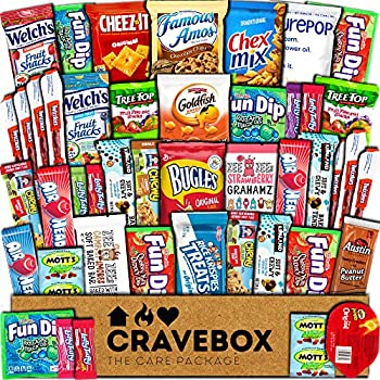 45-Count CraveBox Snacks Food Cookies Chocolate Bar Chips Candy Gift Box