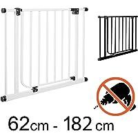TOM - Cancelletto di Sicurezza | 62cm - 182cm | Senza perforazione | porta e scale