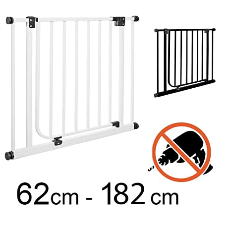 TOM - Barrera de seguridad 82-89 cm | Sin taladrar | puertas + escaleras