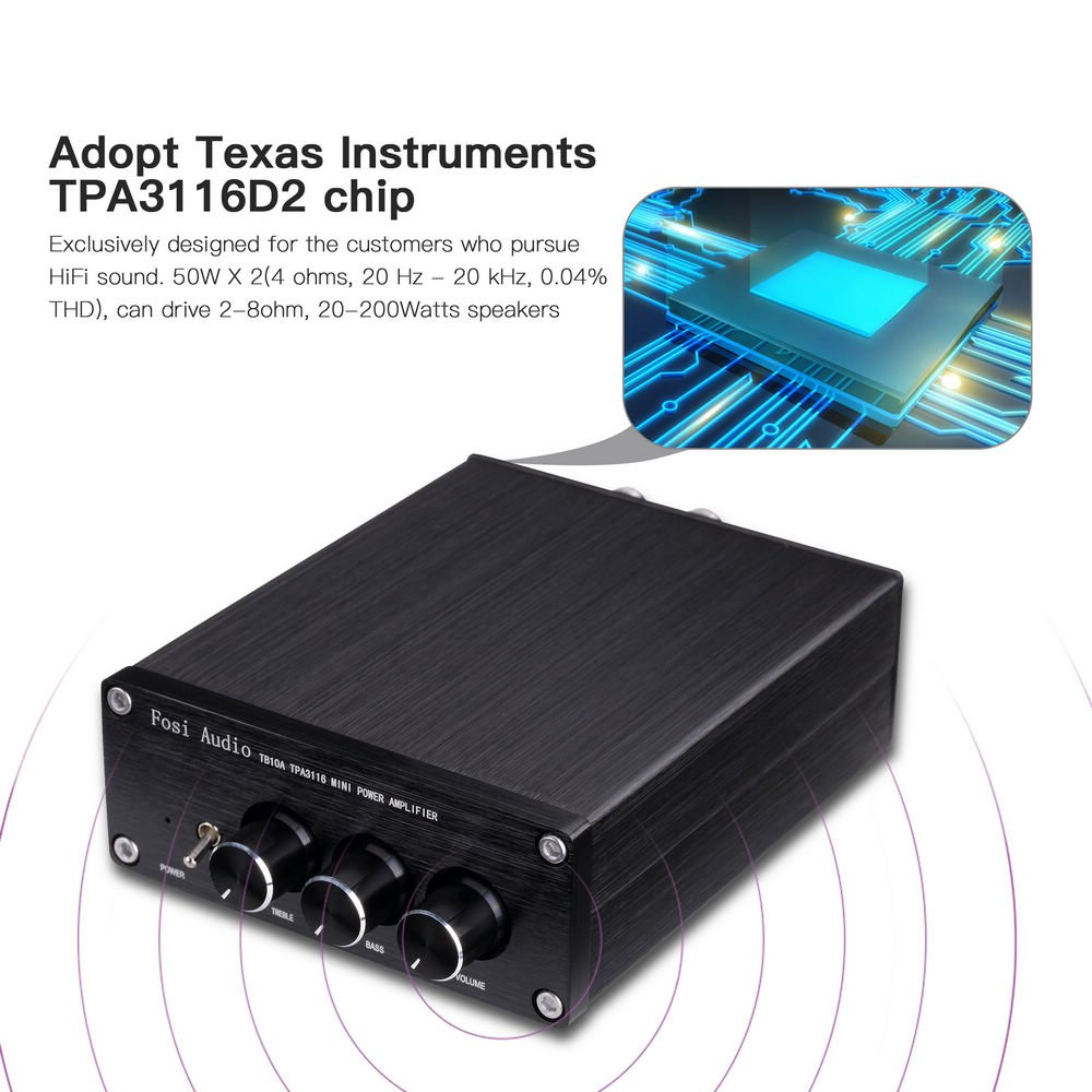 Stereo Home Amplifier Receiver 2 Channel Class D Mini Hi Pdf Tutorial Amp With Ir Driver Chip Fi Integrated Bass And Treble Control For Bookshelf Desktop Computer Speakers