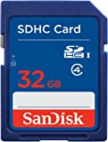 SanDisk SDSDB-032G-FFP 32 GB SDHC Class 4 Memory Card - Blue, Frustration-Free Packaging (Label May Change)