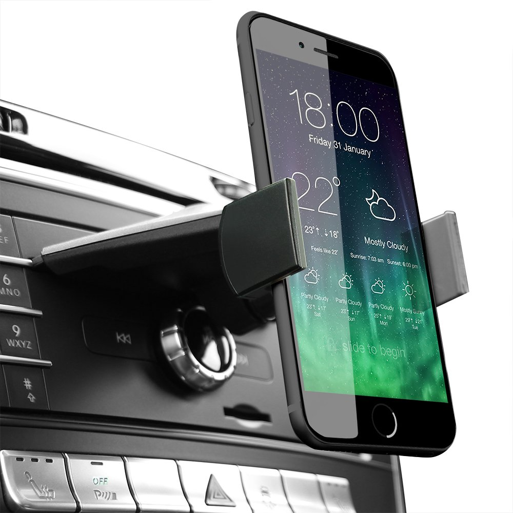 Koomus CD-Air Pro Universal Smartphone Car Mount Holder Cradle for CD Slot by Koomus