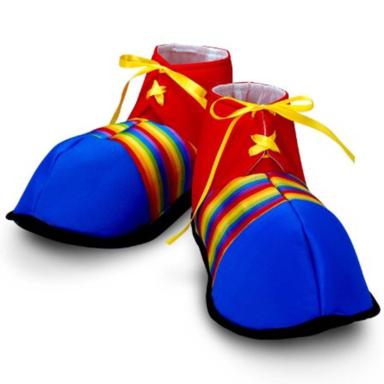 Jumbo Clown Shoes Rainbow Stripes Halloween Costume