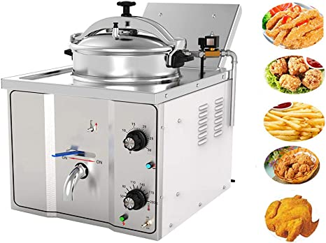 Amazon Com Enshey 2400w Electric 16l Pressure Fryer Cooking Countertop Timer Deep Fryer Professional Tabletop Restaurant Kitchen Frying Machine Commercial Countertop Fryer Restaurant Frying Fish Chicken Kitchen Dining
