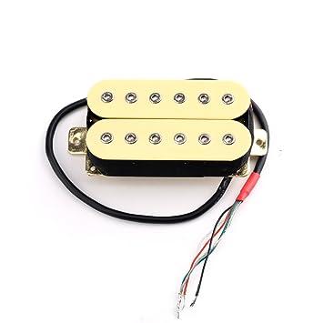 Musiclily Hex Tornillos Pastillas Humbucker para guitarra eléctrica Pastillas doble bobina Humbucker de puente y cuello Pickups Set, color crema: Amazon.es: ...