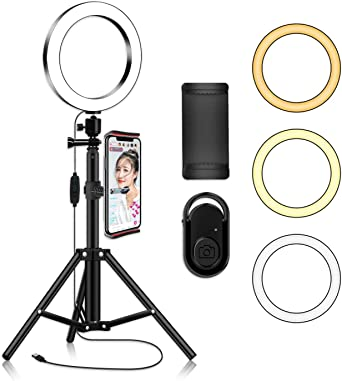 Ring Light with Tripod Stand Phone Selfie Kit