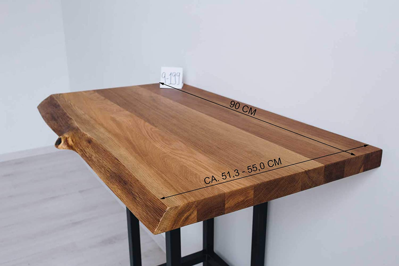 40mm Eiche mit Baumkante massivholz Muster Waschtisch aus