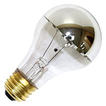 Silver Bowl Light Bulb: Halco 101180 - A19CL60/SB Silver Bowl Light Bulb,Lighting