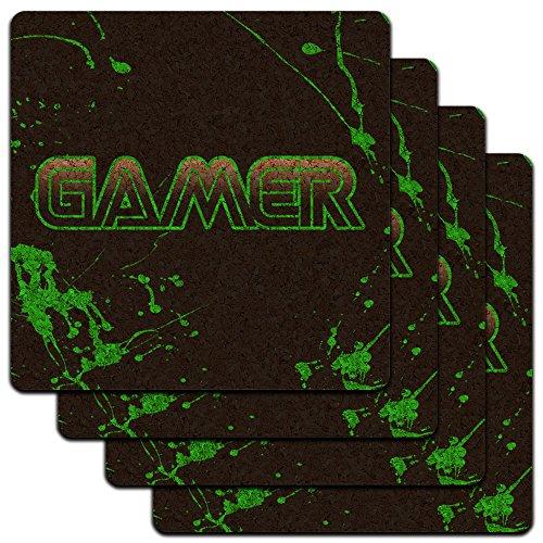 Gamer Splatter Gaming Profile Coaster