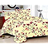 Bedsheet 100% Cotton Double bed Queen Size Pink Floral Printed