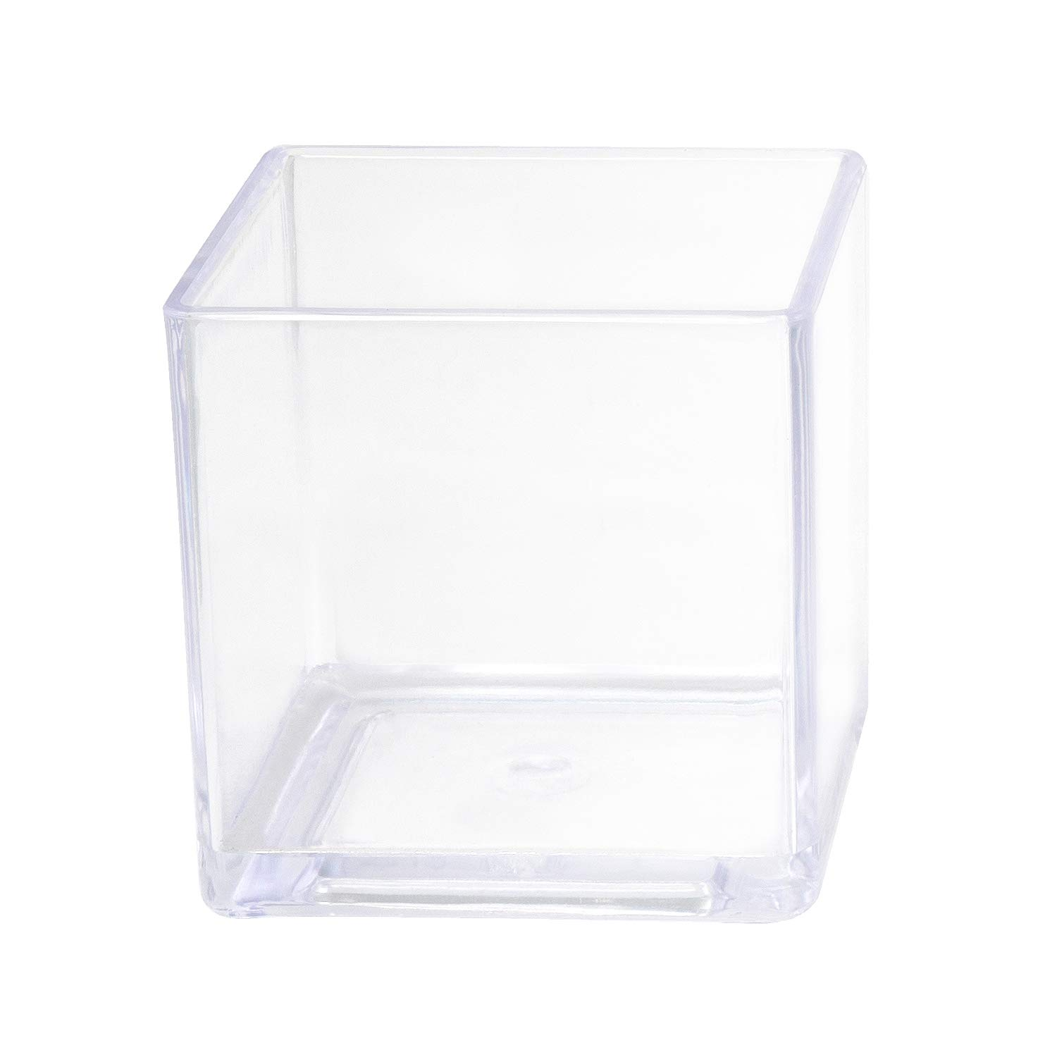 Royal Imports Flower Acrylic Vase Decorative Centerpiece for Home or Wedding Break Resistant - Cube Shape, 5''x5'', 5'' Tall by Royal Imports