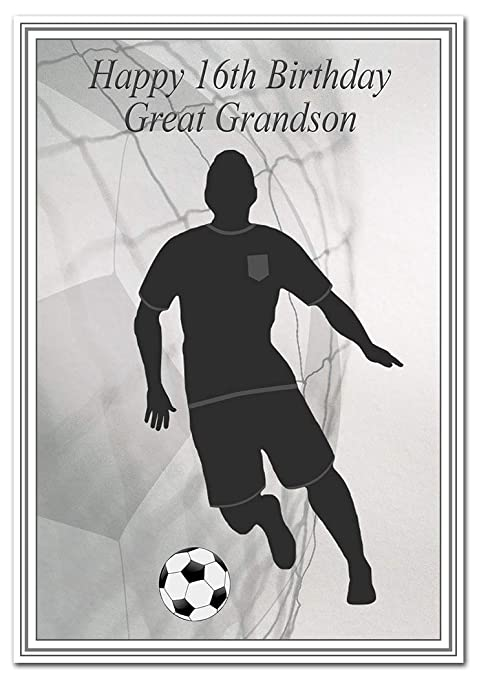 pack of 6 Football Silhouette Birthday Party Bags Food Bags Boys Teenager Son