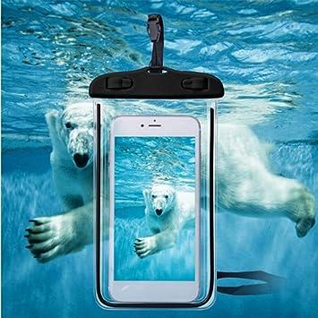 Petoske Bolso Impermeable del teléfono móvil Luminoso