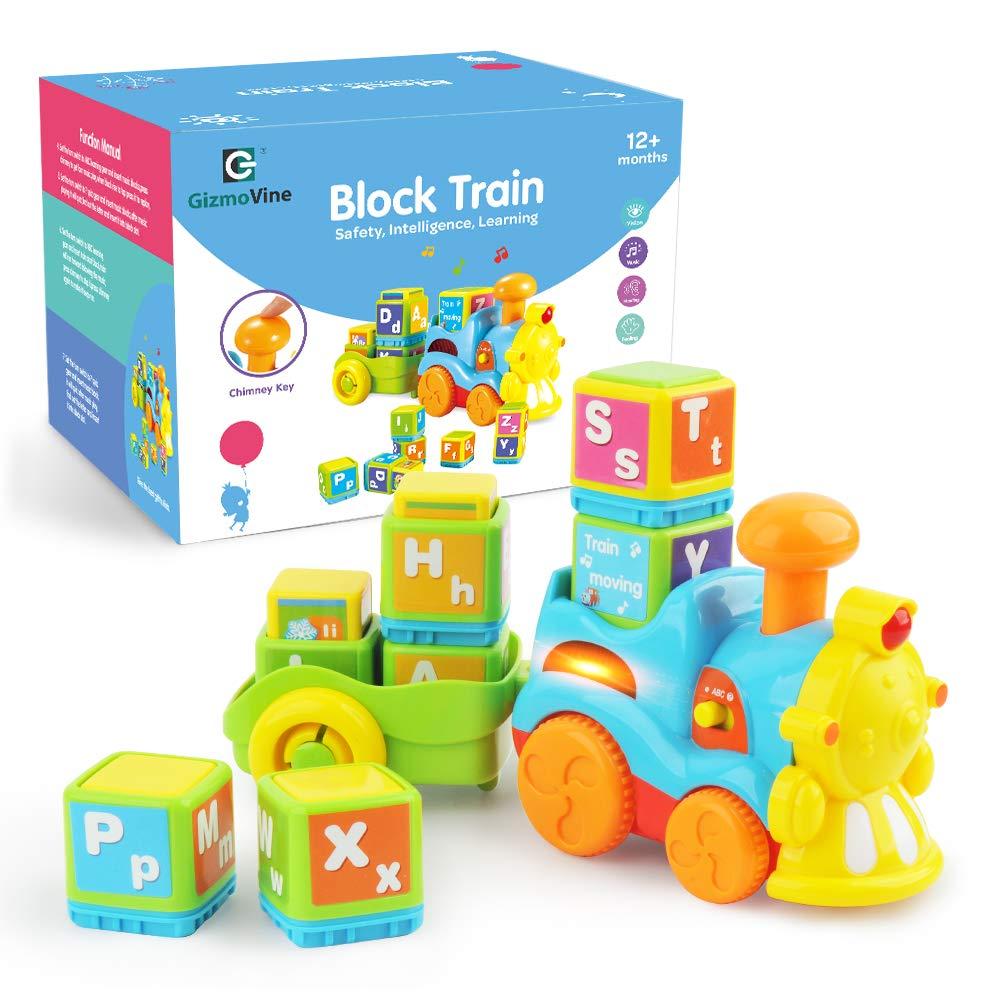 GizmoVine Juguetes Bebes Juguete De Construcción del Tren del Alfabeto Juguetes Educativos Temprano Niños y Niñas para 12 meses