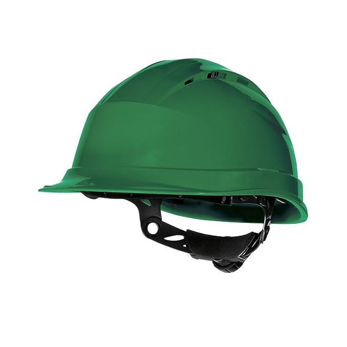Delta plus - Casco de Seguridad en el Trabajo ventilado Modelo Quartz Rotor (Talla Única/Amarillo): Amazon.es: Ropa y accesorios