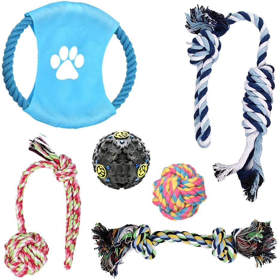 Grooming Pet Glove Gift Puppy Toys Outdoor Dog Toys Puppy Chew Toys Dog Frisbee Cotton Rope Dog Chew Toys Puppy to Medium Breed Rope Dog Toys Set Dental Floss Large Bag for Dog Toys