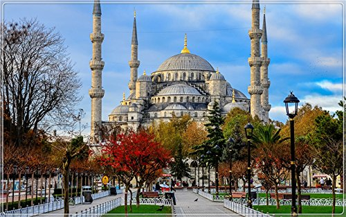 - Blue-Mosque-Sultan-Ahmed-Mosque-Istanbul-Turkey Postcard Post card