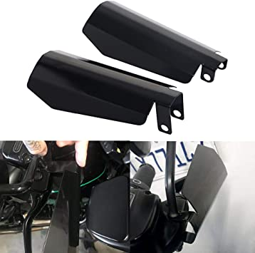 Bid4ze Pair Motorcycle Black Coffin Cut Handguard Hand Guards Wind Cold Protector For Harley Dyna 06 and older Baggers FXRs with upgraded controls Small