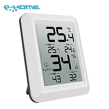 2x Digital Thermo-Hygrometer Thermometer Hygrometer Luftfeuchtigkeit Uhr Alarm