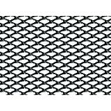 Grille anodisée aluminium noir 100 x 33 cm, maillage fin 2 x 4 m