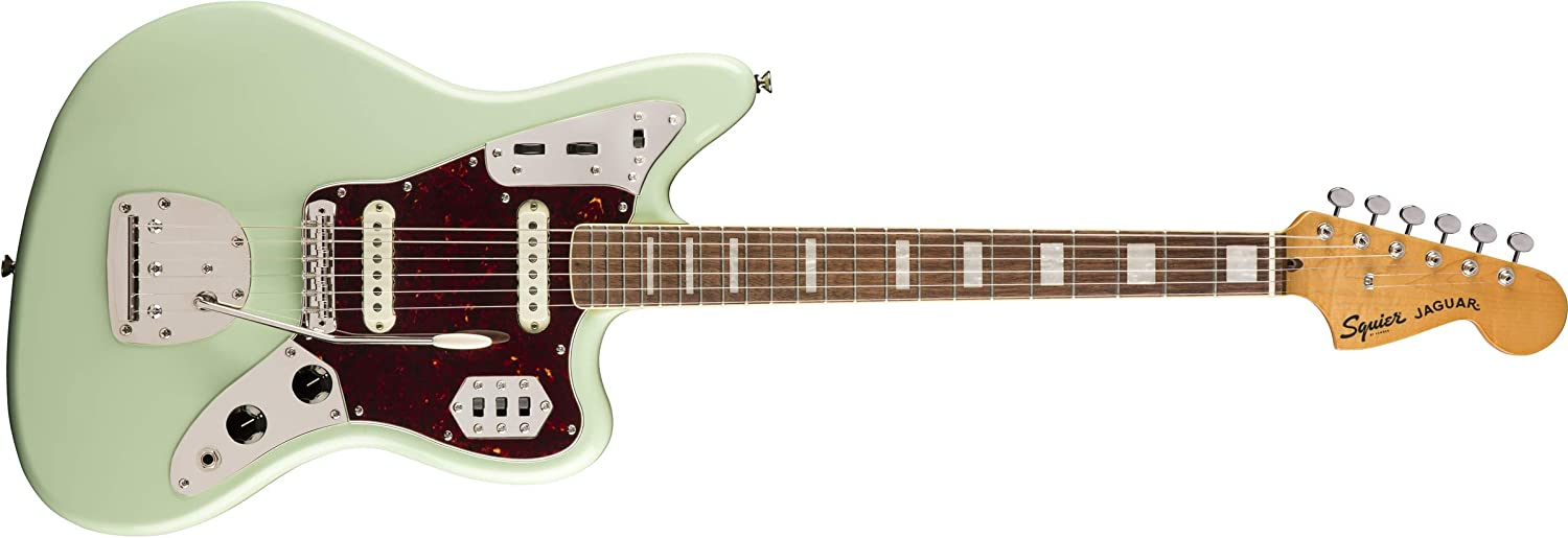 Squier by Fender Classic Vibe 70's Jaguar Electric Guitar - Laurel - Surf Green