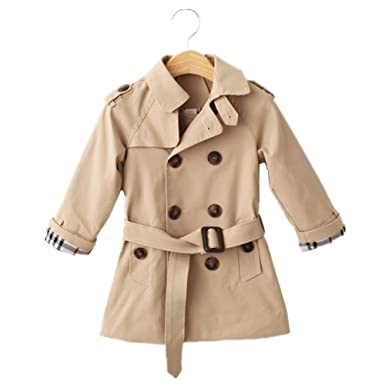 77ee69d9e21e LJYH Toddler Boys New Spring Double-Breasted Trench Coat with Belt ...