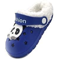 Vorgelen Niños Invierno Zuecos Pelusa Forro Pantuflas Niña Cálido Antideslizante Mules Suave Ligeras Zapatos de Jardín…