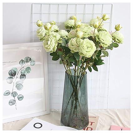 Beisoug Los Mejores Regalos de San Valentín Artificial Falso Western Rose Flor peonía Ramo Nupcial Boda