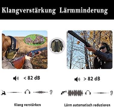 SHOH L/ärmschutz Ohrensch/ützer Tonanpassung K/önnen Automatisch Abgeschnitten Werden Elektronische Schie/ßger/äuschunter Dr/ückung Ohrensch/ützer Sportschie/ßen Ohrensch/ützer