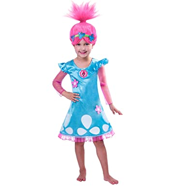 Child Girls Trolls Poppy Costume, 3-4Years - 1 PC