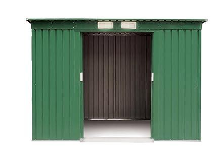 VERDELOOK 621 – 6 Cobertizos, tamaño mediano, de chapa, galvanizado, 194 x
