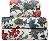 waverly sheets - Traditions by Waverly Maldives Blue and Red Floral 4-Pc. Bedding Sheet Set, Full