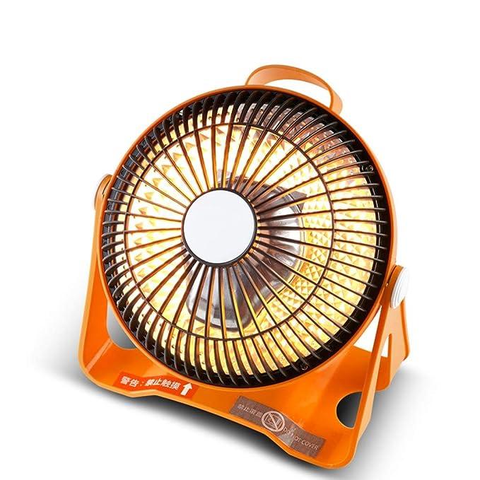 Calentador Pequeño Solar Doméstico Mini Pequeño eléctrico de Ahorro de energía Mesa de Estudiantes Dormitorio Ventilador Asador Estufa (Color : Orange): ...